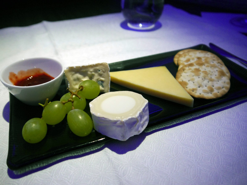 Qatar Airways Cheese Platter Business Class Meal