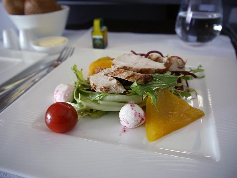 Qatar Airways Grilled lemon grass Chicken Salad