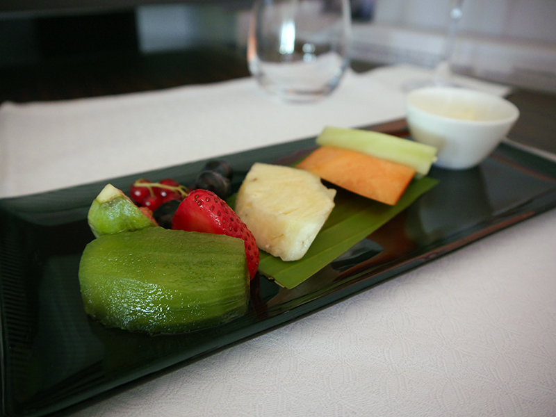 Qatar Airways Business Class Breakfast Seasonal Fruit Platter