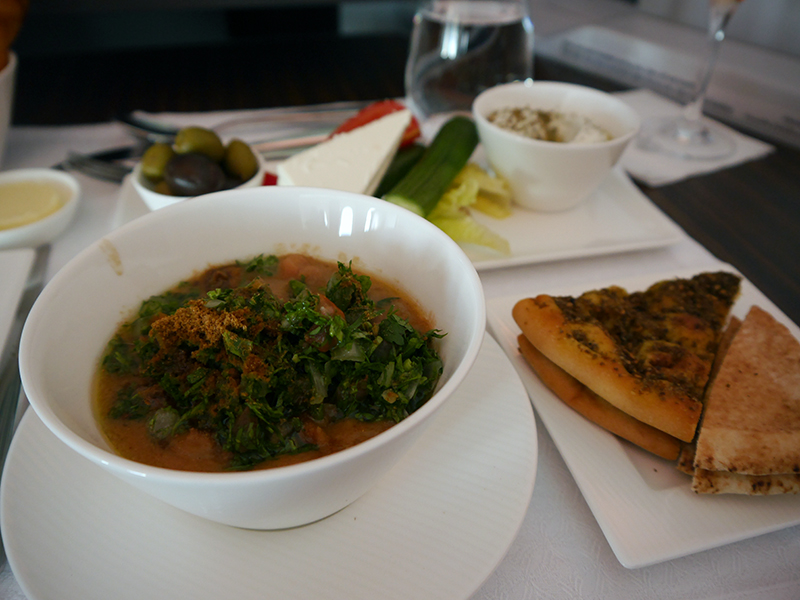 Qatar Airways Business Class Food- Traditional Arabic Breakfast