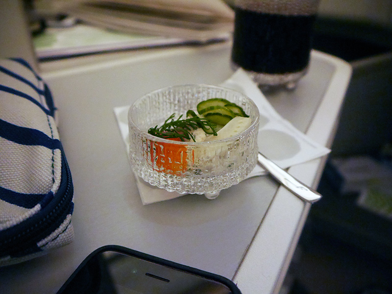 Finnair Amuse Bouche - A350 Business Class Food
