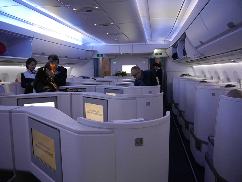 Finnair Business Class Cabin Interior