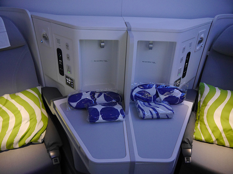 Finnair Business Class Middle Seats