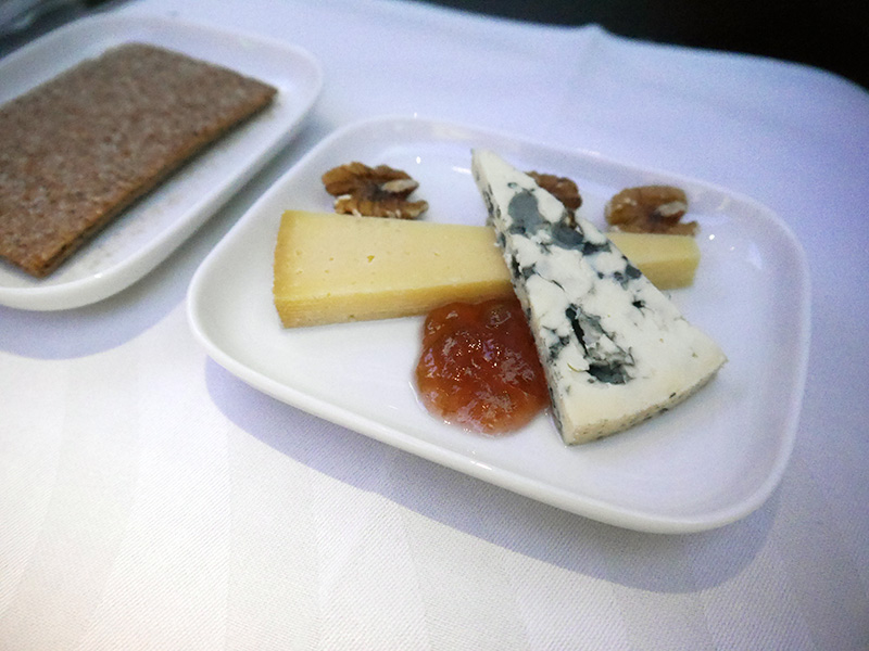 Finnair Cheese Course - Business Class Food