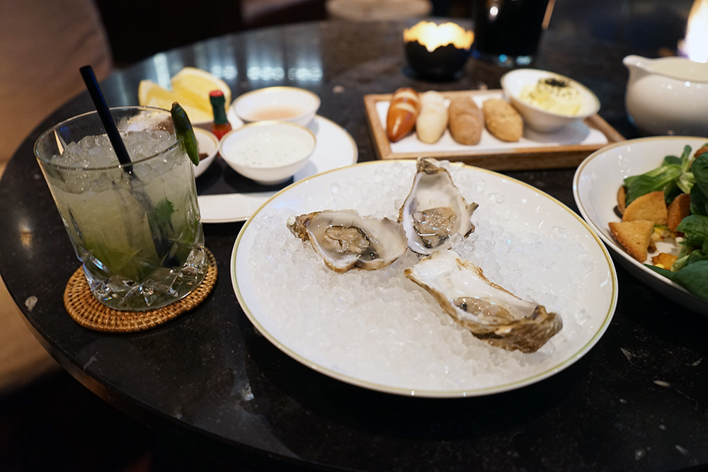 Oysters at The Chedi