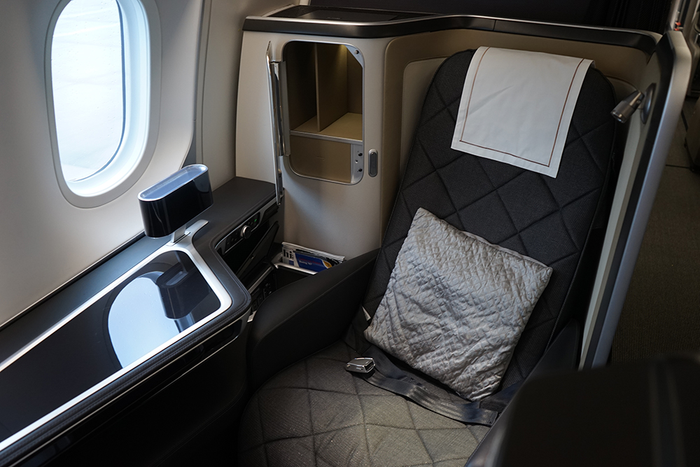 British Airways First Class Seat Dreamliner