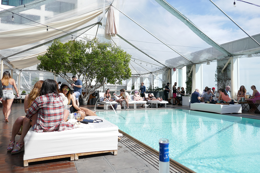 SkyBar pool at the Mondrian Hotel Los Angeles