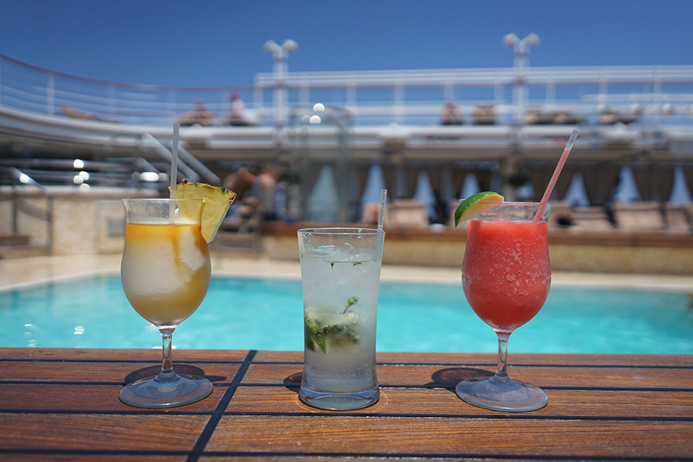 Silversea Pool Deck and Cocktails