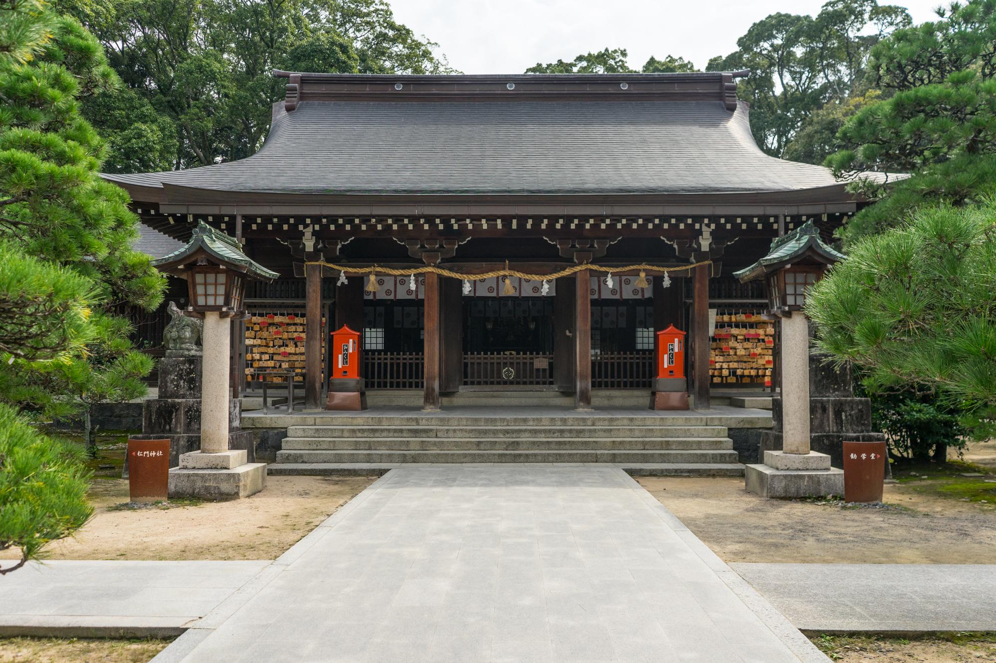 Shoin-jinja shrine in Hagi, Yamaguchi