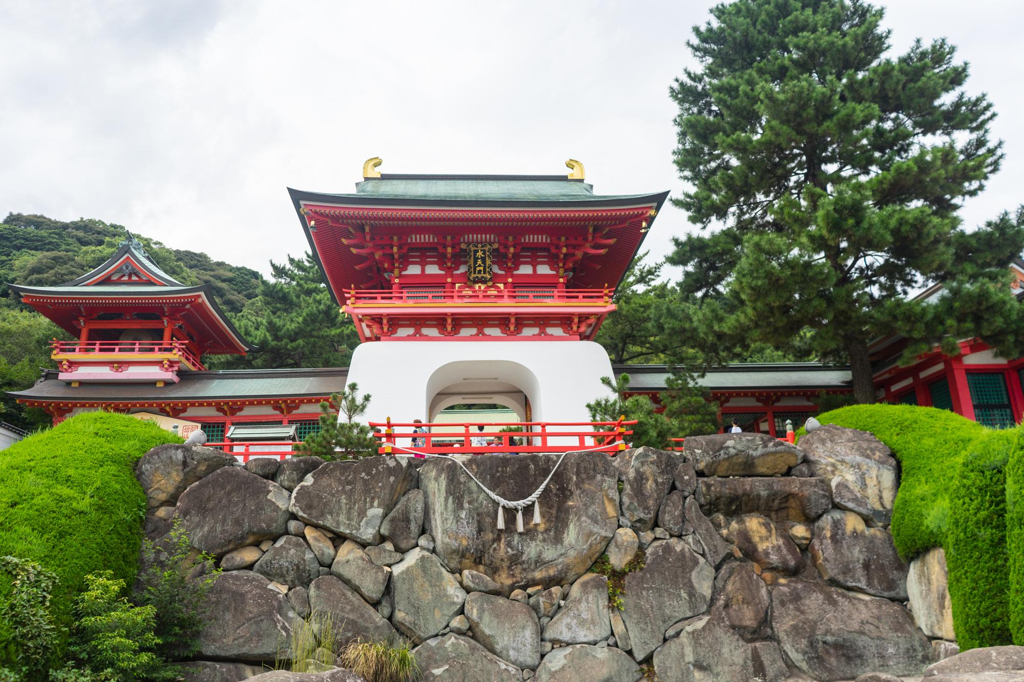 Akama-jinju shrine Yamaguchi prefecture Japan