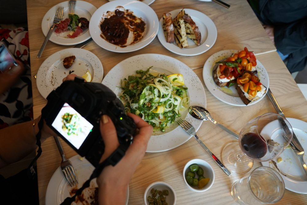 Bloggers Photographing Meals