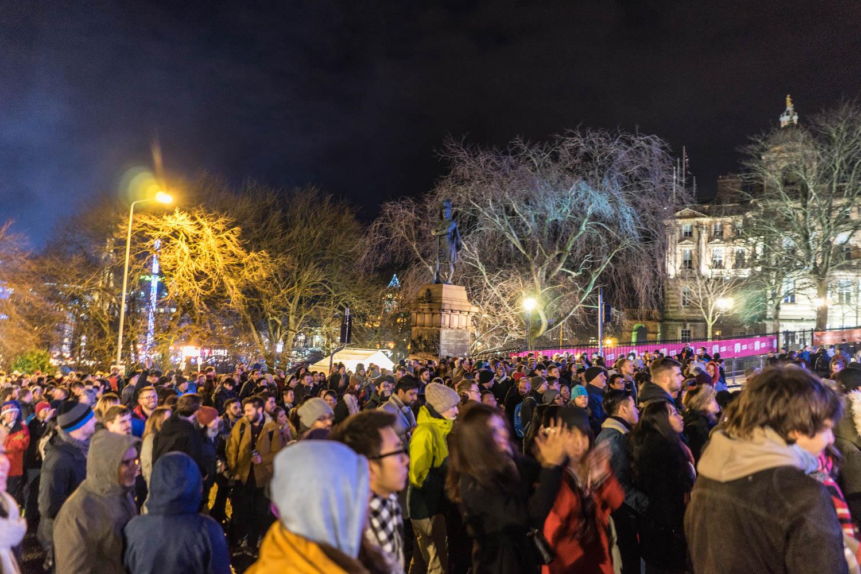 Hogmanay Crowds