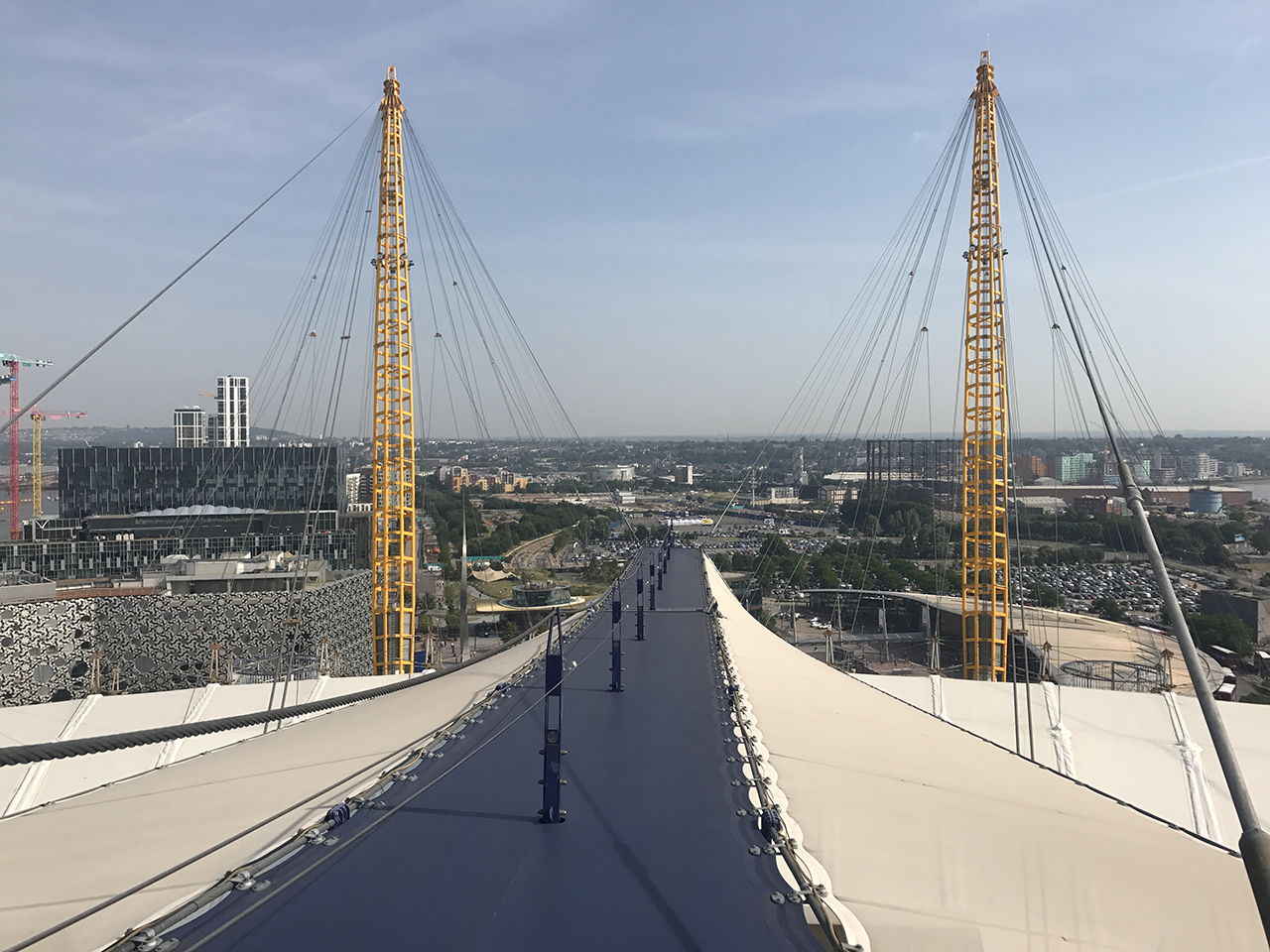 Up at the O2 Walkway
