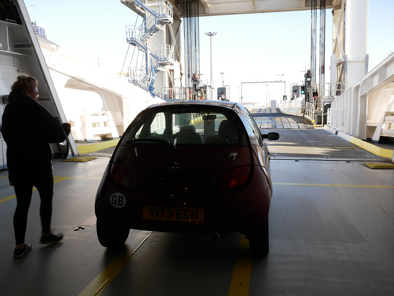 Taking the ferry from Dover to Calais