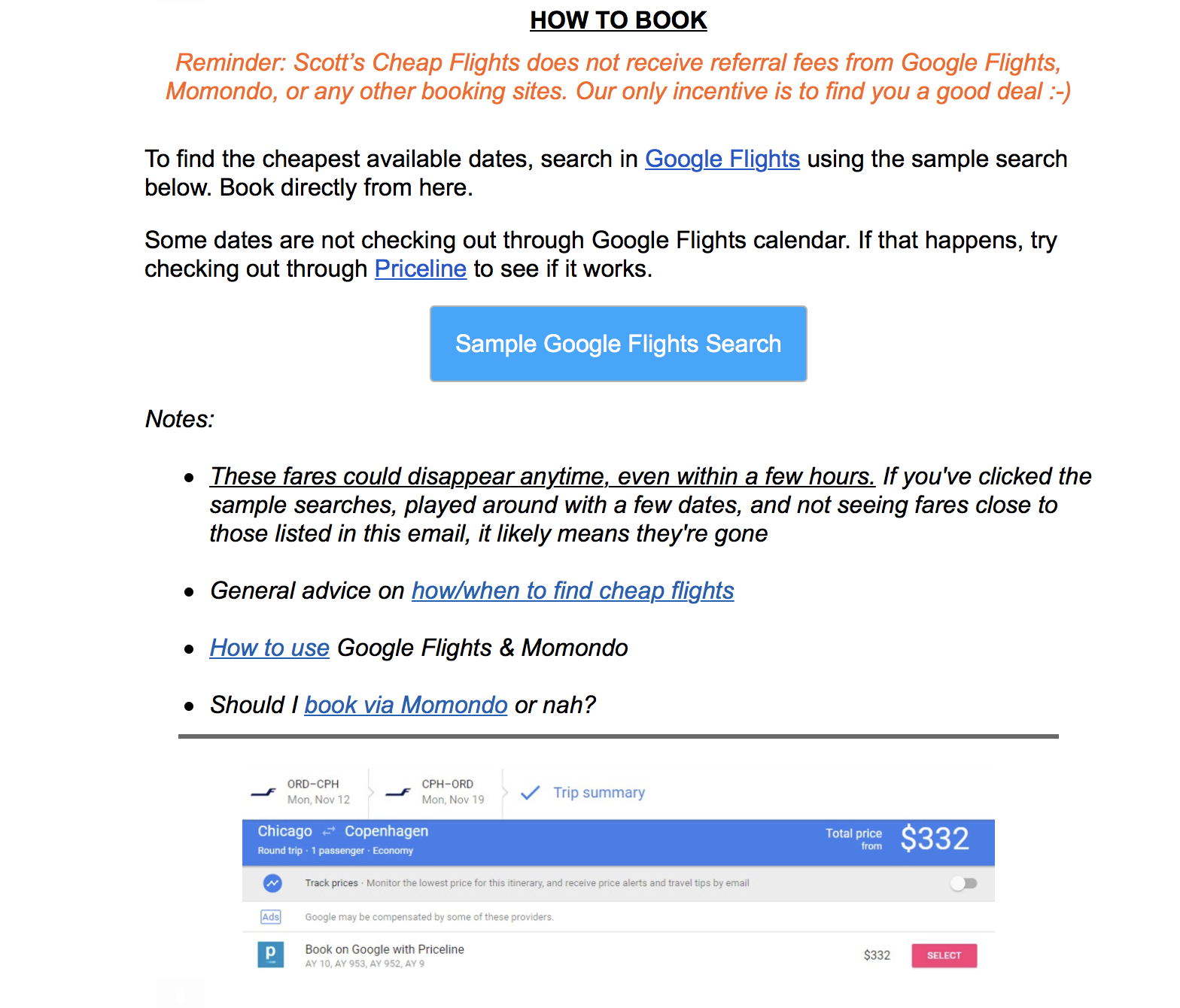 Scott's Cheap Flights Example