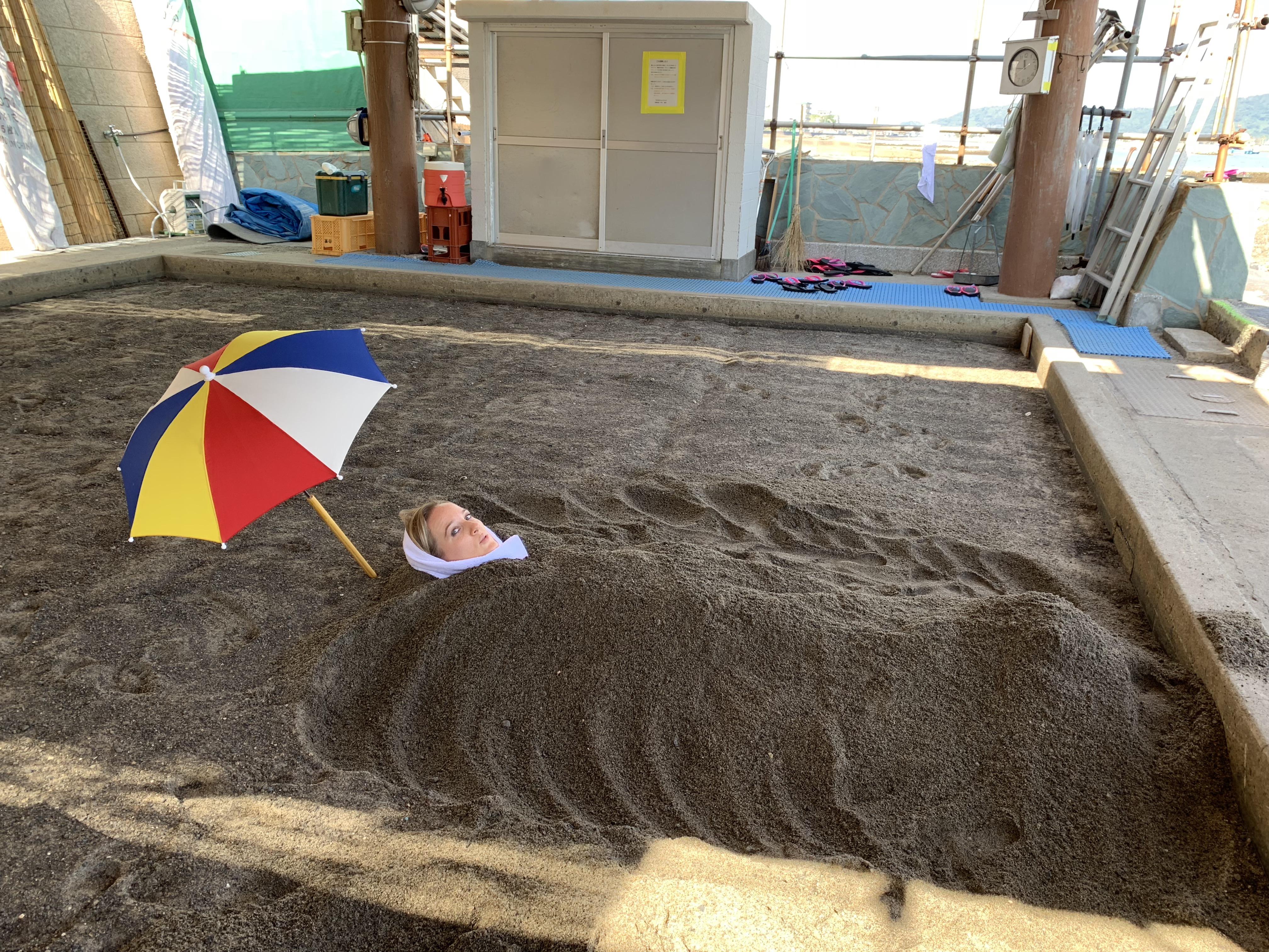 Japanese sunamushi sand bath