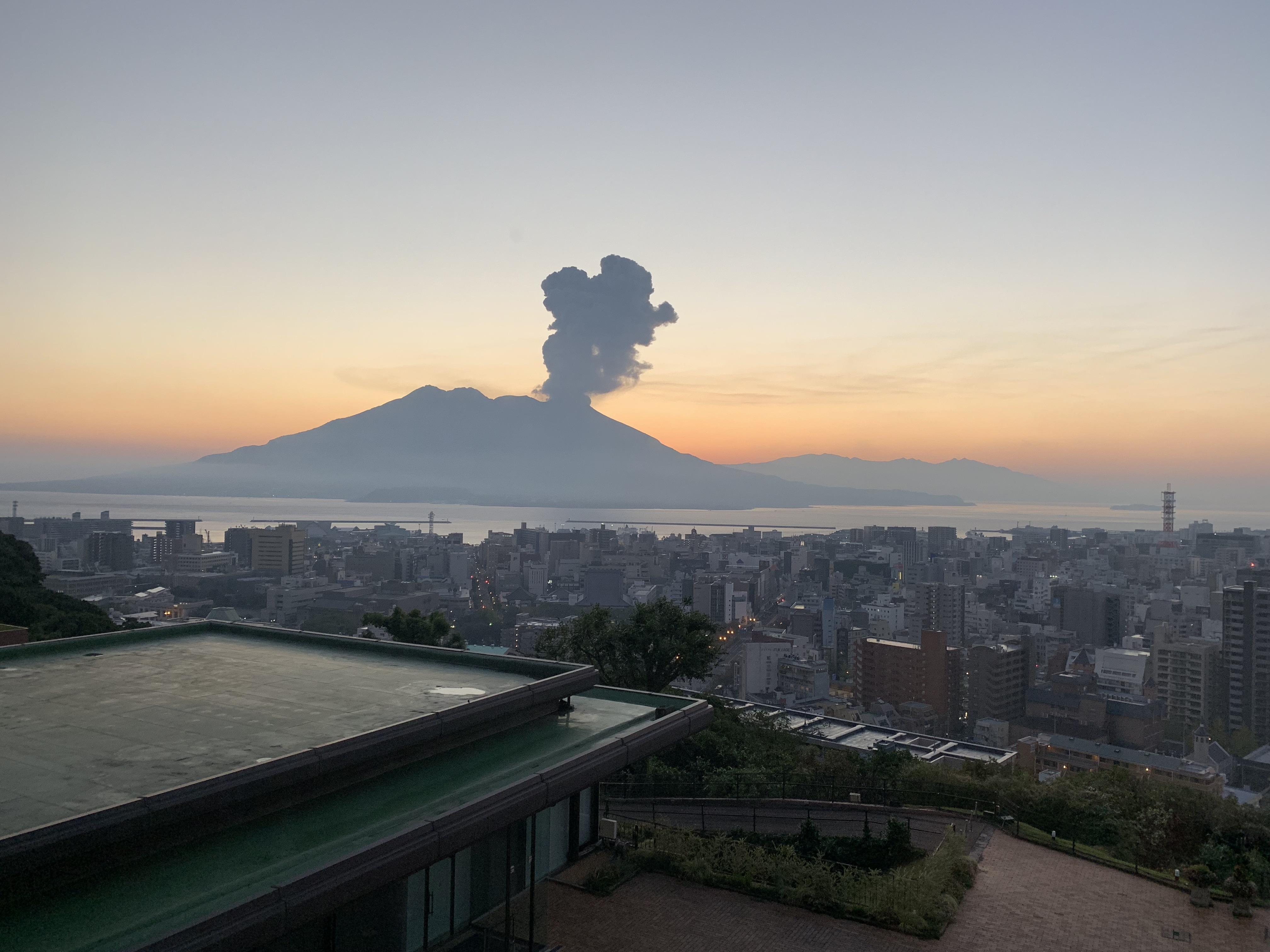 Sakurajima Volcano Sunrise