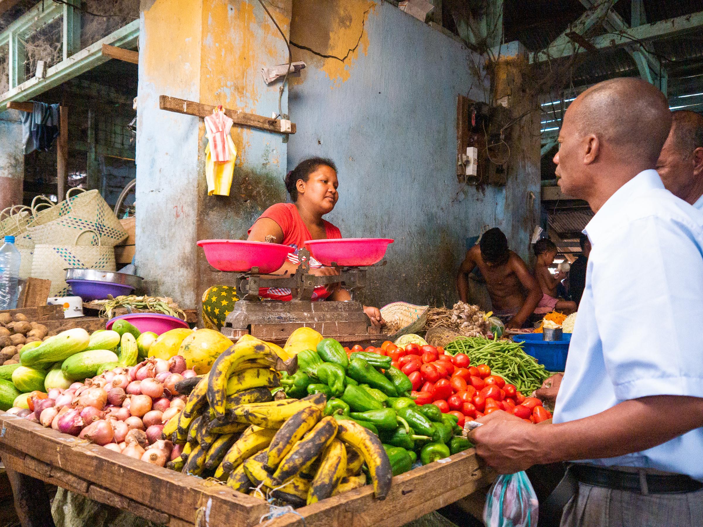 Local market in Morondava Madagascar