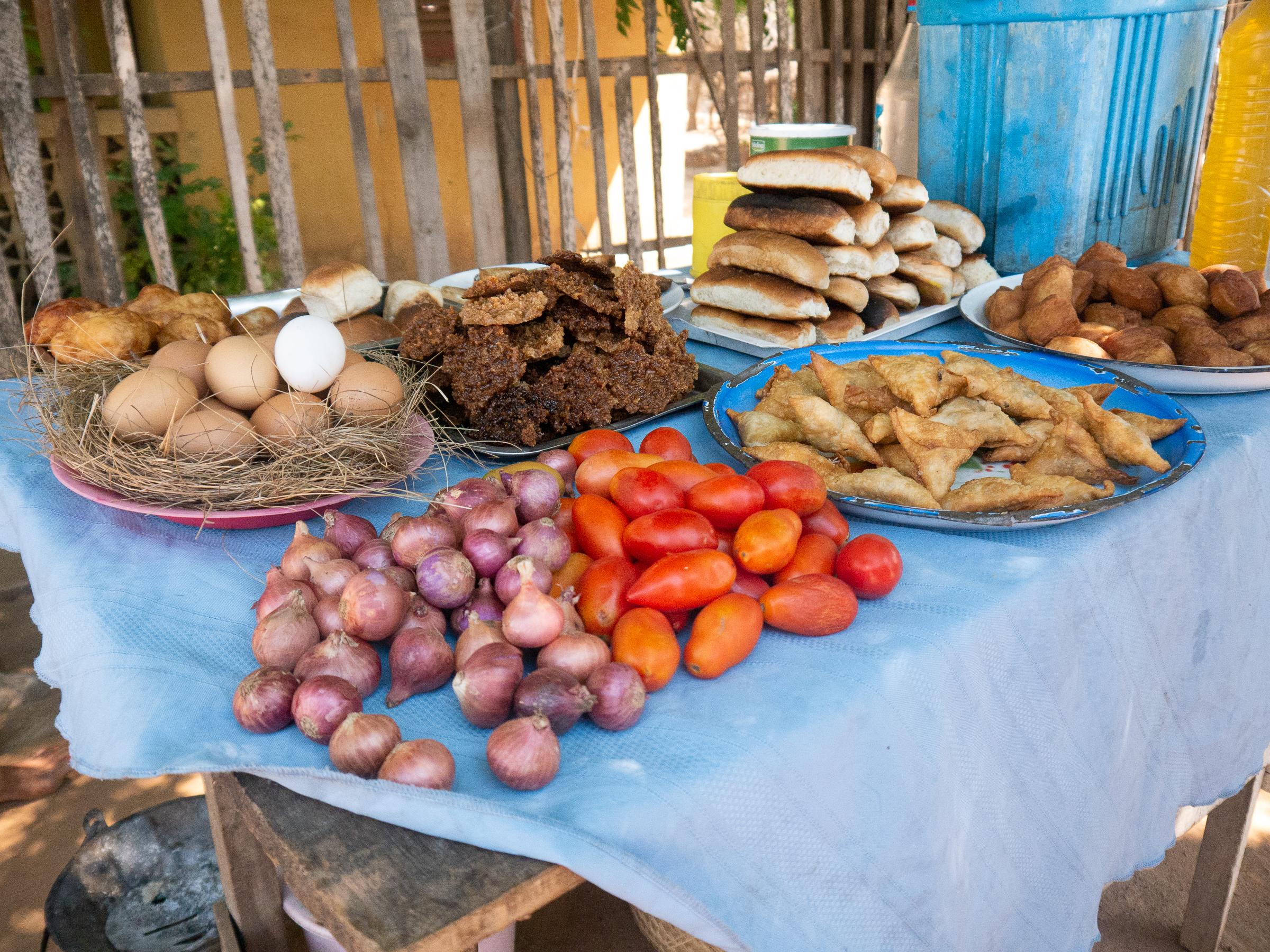Street food in Madagascar